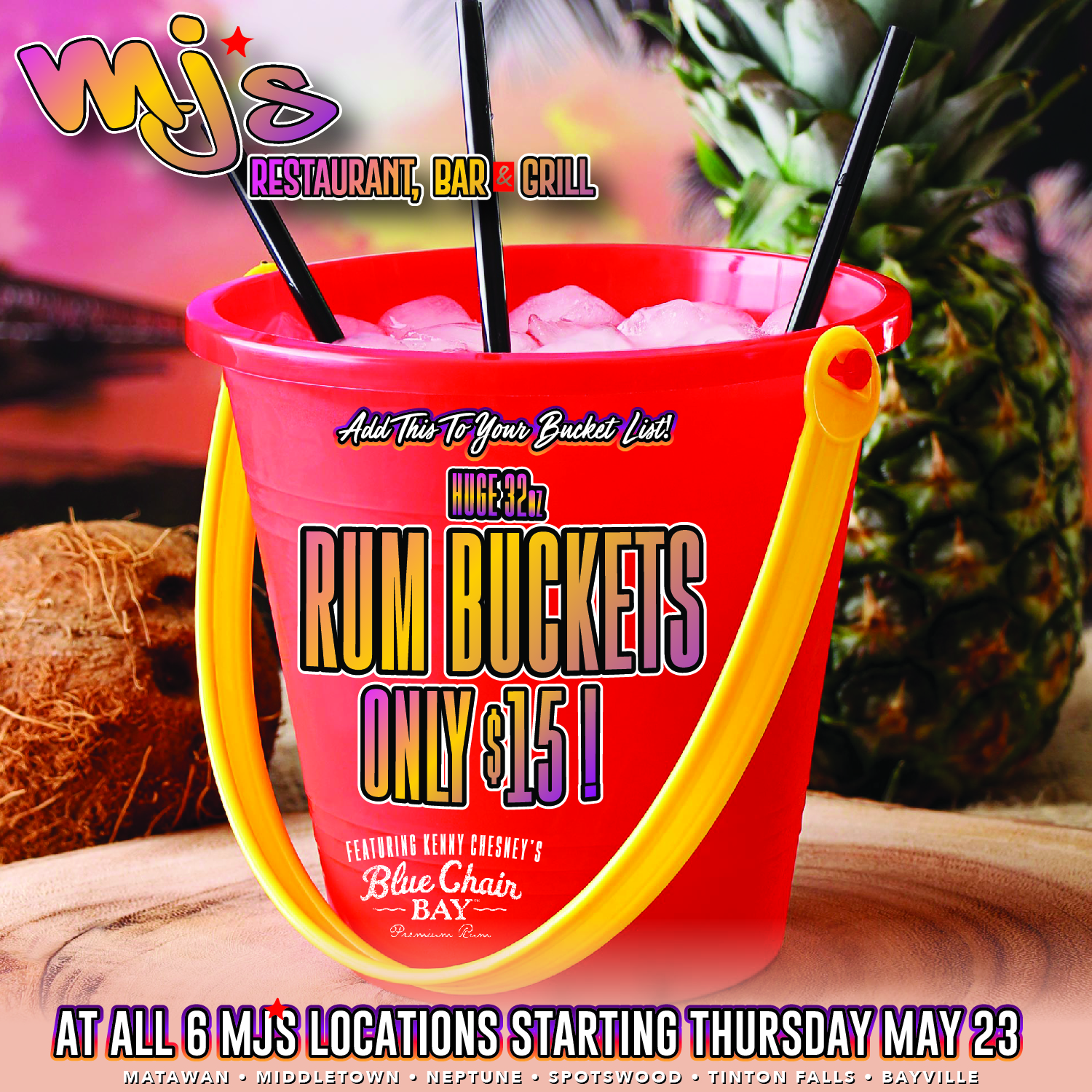 Add This to Your Bucket List-Rum Buckets only $15!