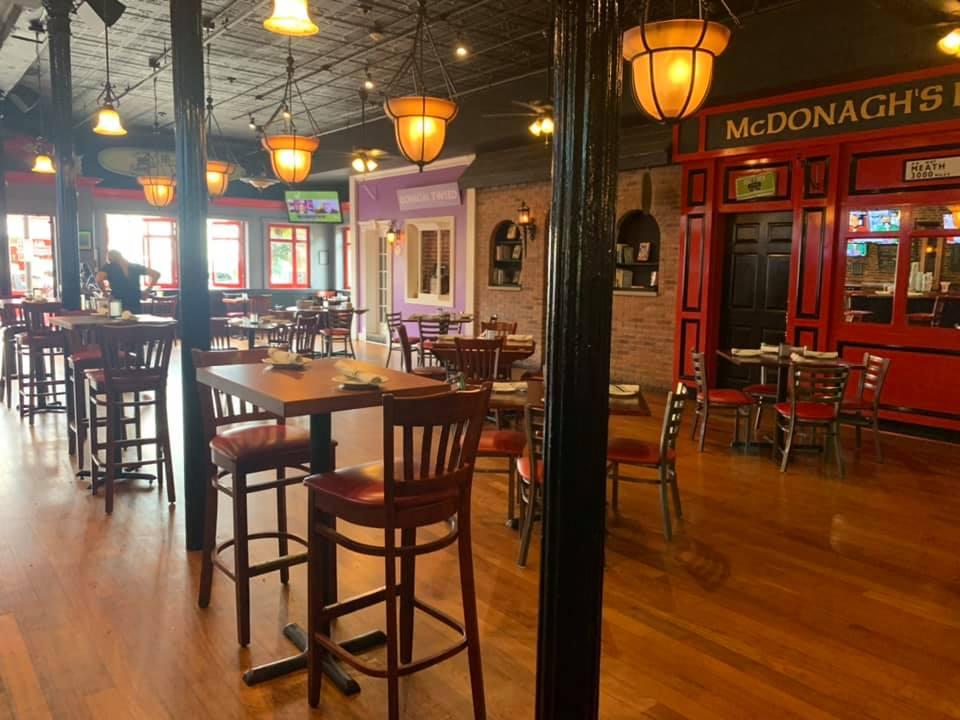 Indoor dining area & bar is open!