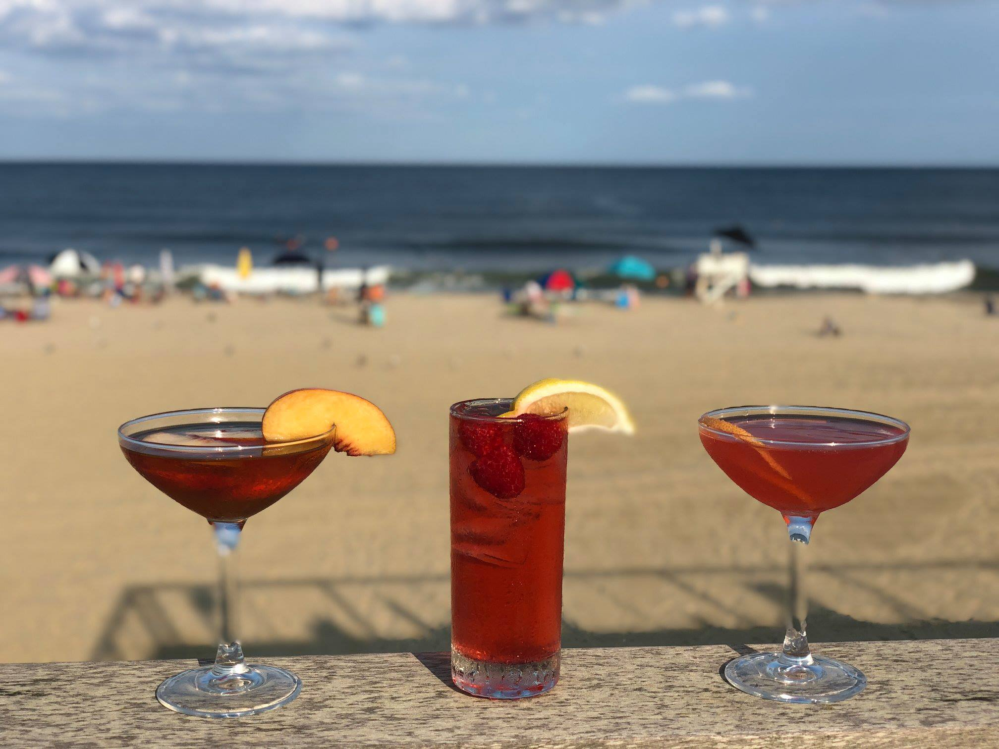 Happy Hour & Cocktail Corner with an Ocean View