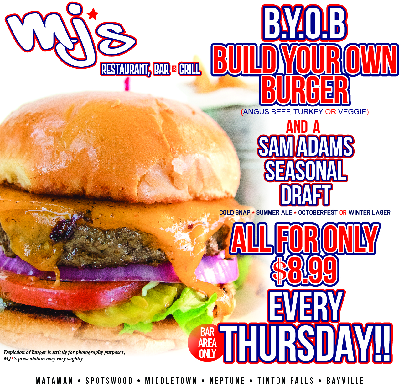 Build Your Own Burger at MJ's