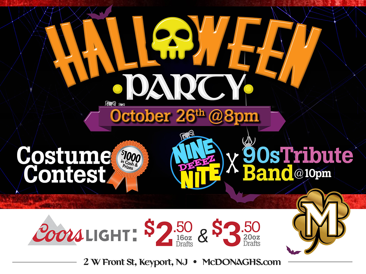 McDonagh's Halloween Party October 26th