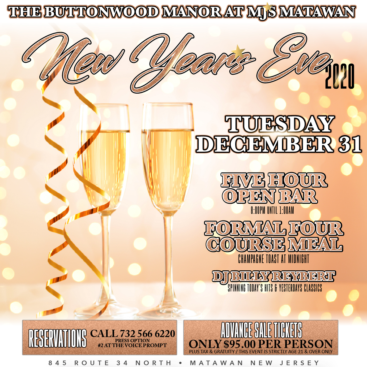 New Years Eve at MJ's Buttonwood Manor