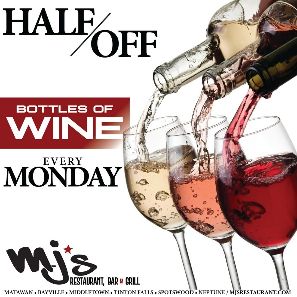 1/2 PRICE WINE MONDAYS