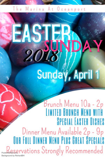Have Easter Brunch at The Marina!
