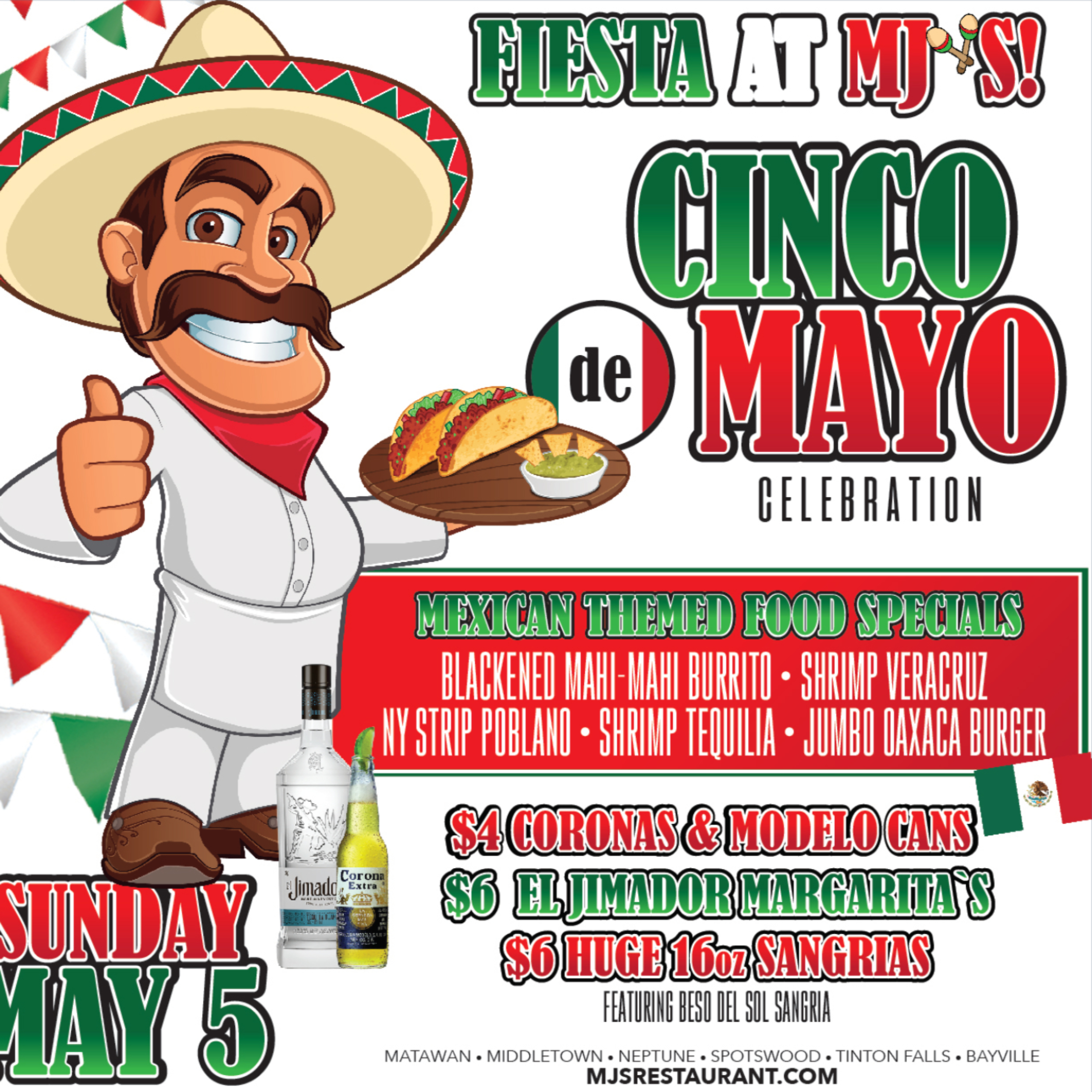 You Can't Miss MJ's Cinco de Mayo Fiesta!