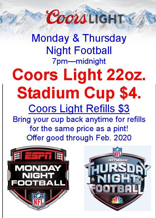 Monday and Thursday Night Football Specials