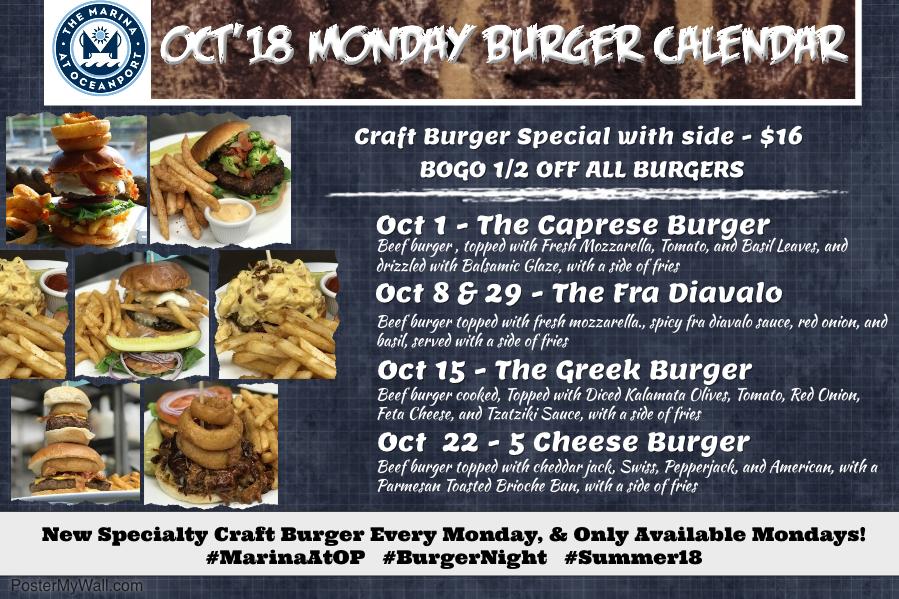 Burger Mondays at the Marina