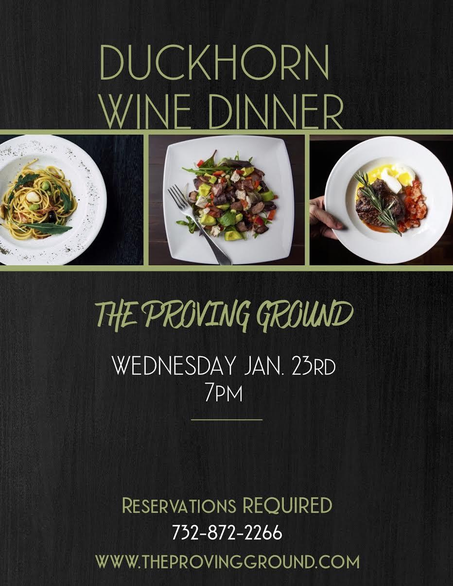 Duckhorn Wine Dinner on January 23rd!