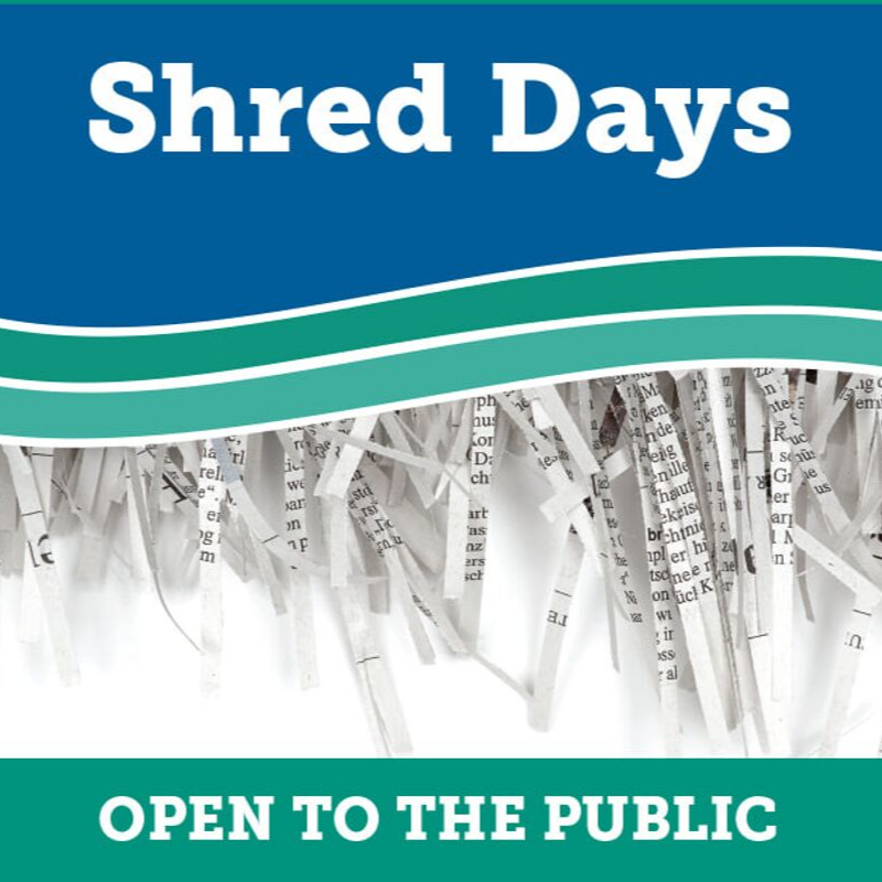 Shred Day at Two River Community Bank
