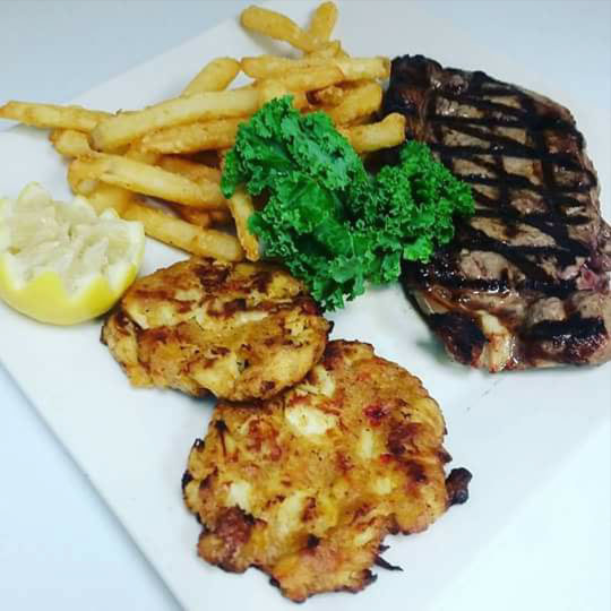 Thursday Steak and Crab Cakes Combo Only $19.99!