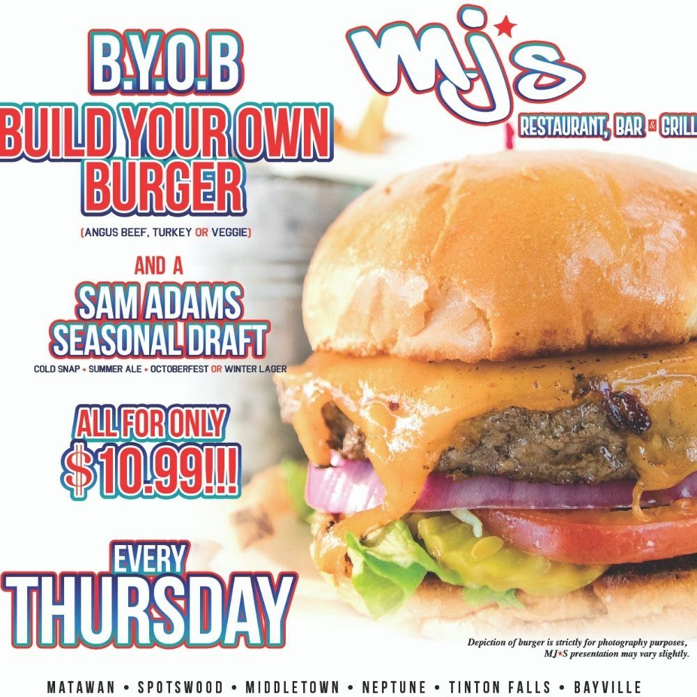 Build Your Own Burger Every Thursday at MJ's