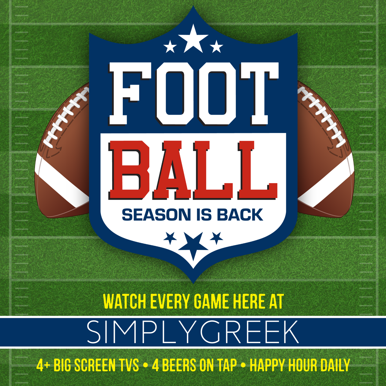 Football Season is BACK at SimplyGreek