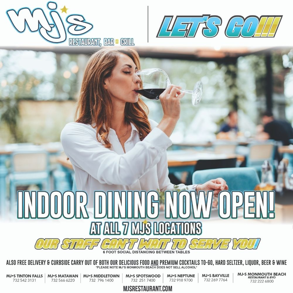 Indoor Dining at MJ's is Back! Let's Go!