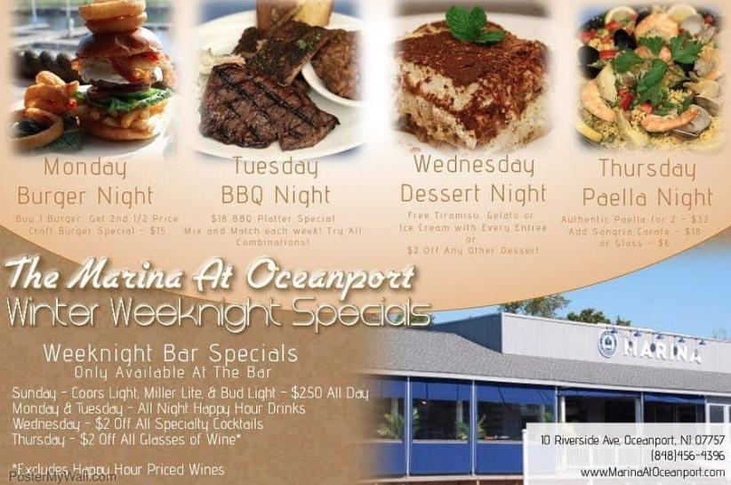 Weekday Food Specials at the Marina