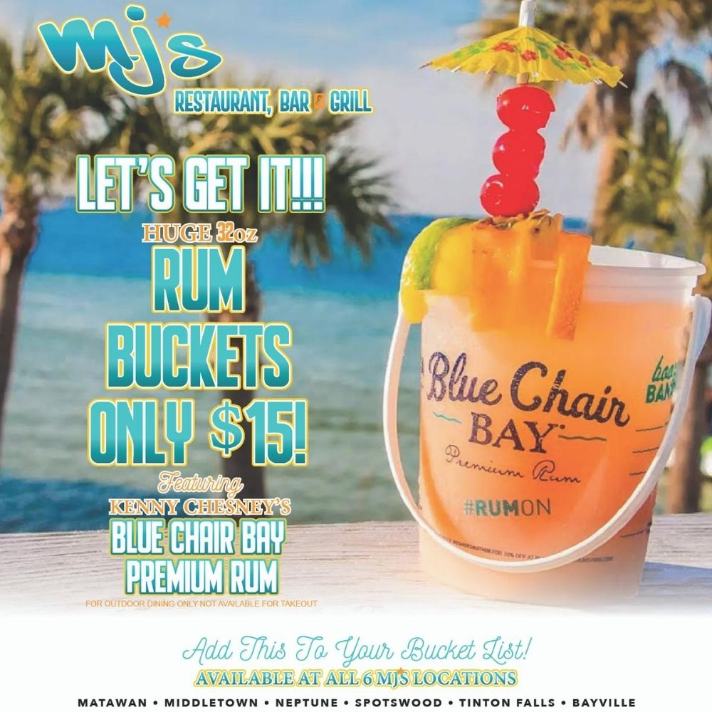 Rum Buckets from MJ's!
