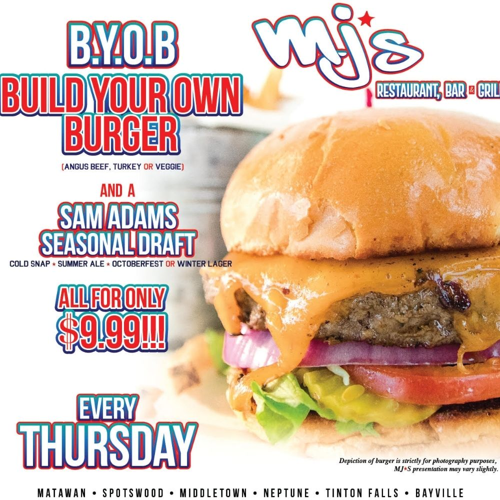 Build Your Own Burger Every Thursday at MJ