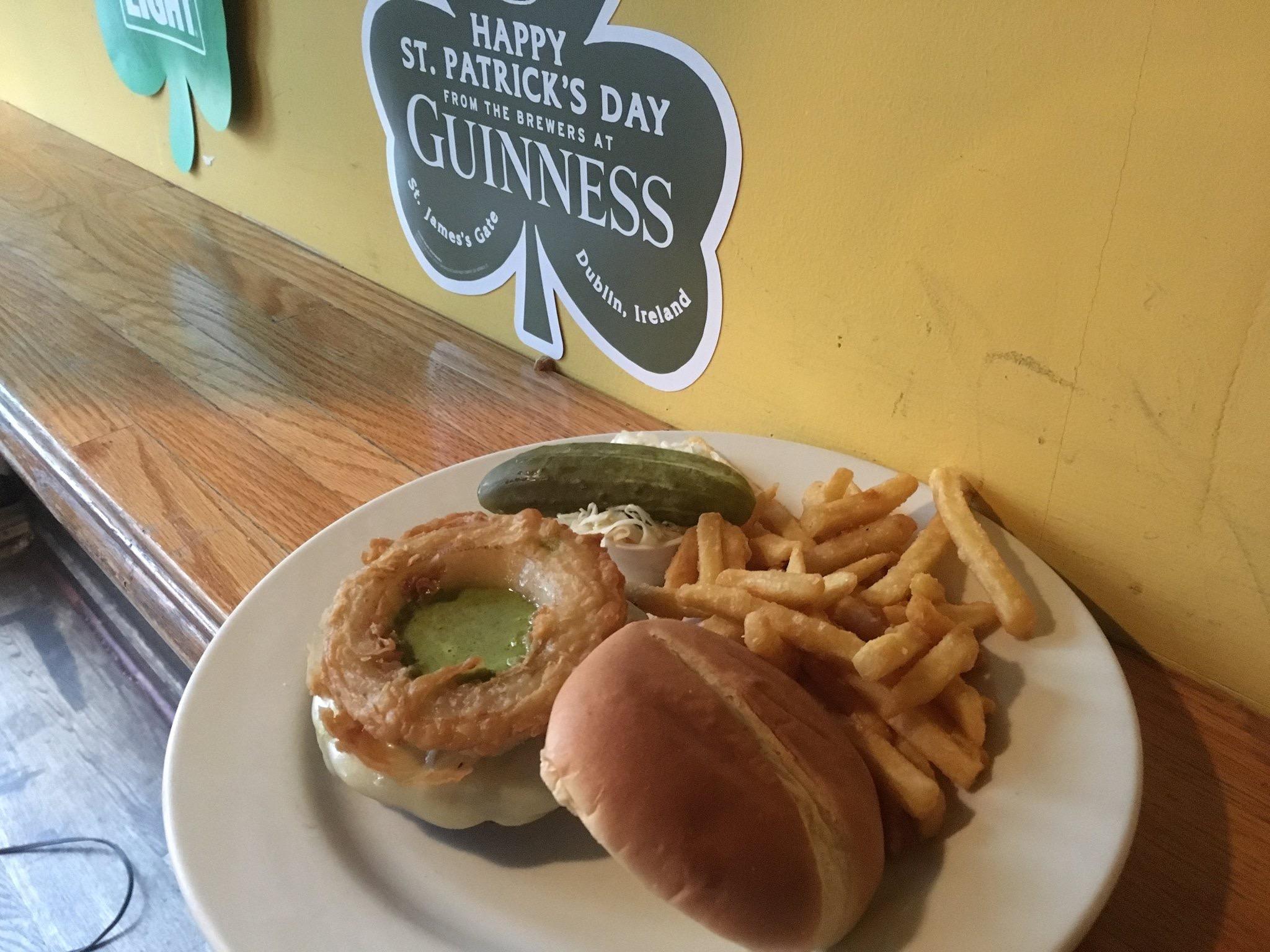 Hump Day Burger at Hailey's Harp-Cade!