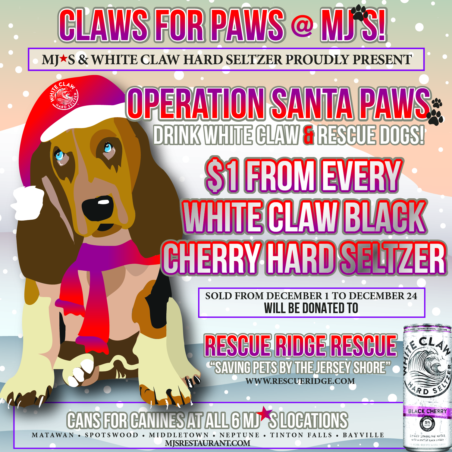 Claws for Paws at MJ's