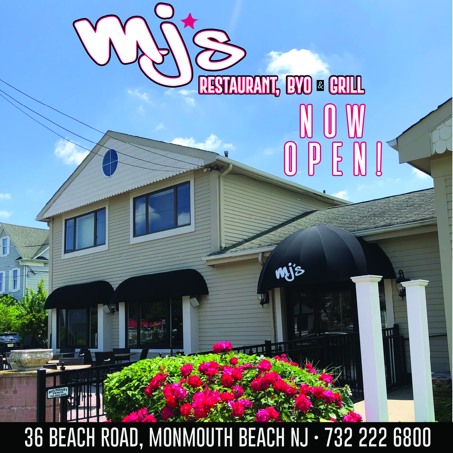 MJ's in Monmouth Beach NOW OPEN!