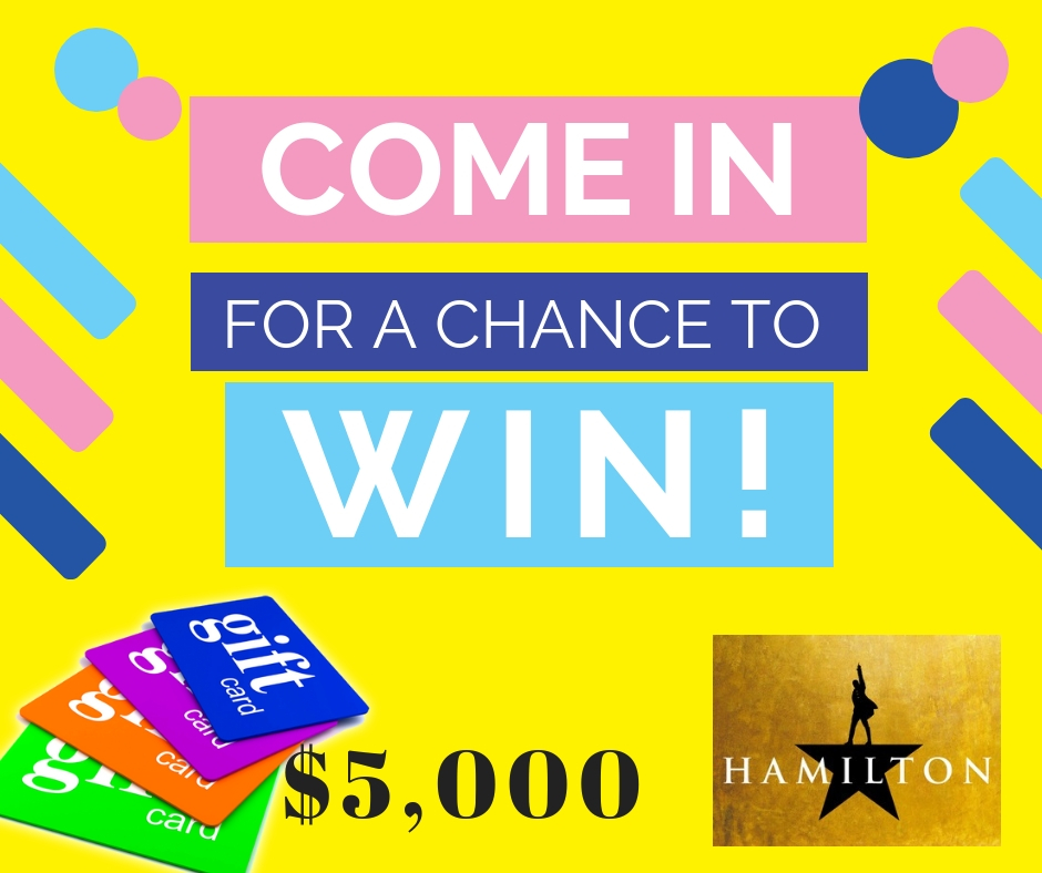 Win Hamilton Tickets & Over $5,000 in Gift Cards