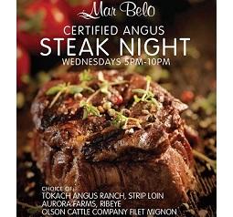 Mar Belo Steak Night Every Wednesday - $21.99