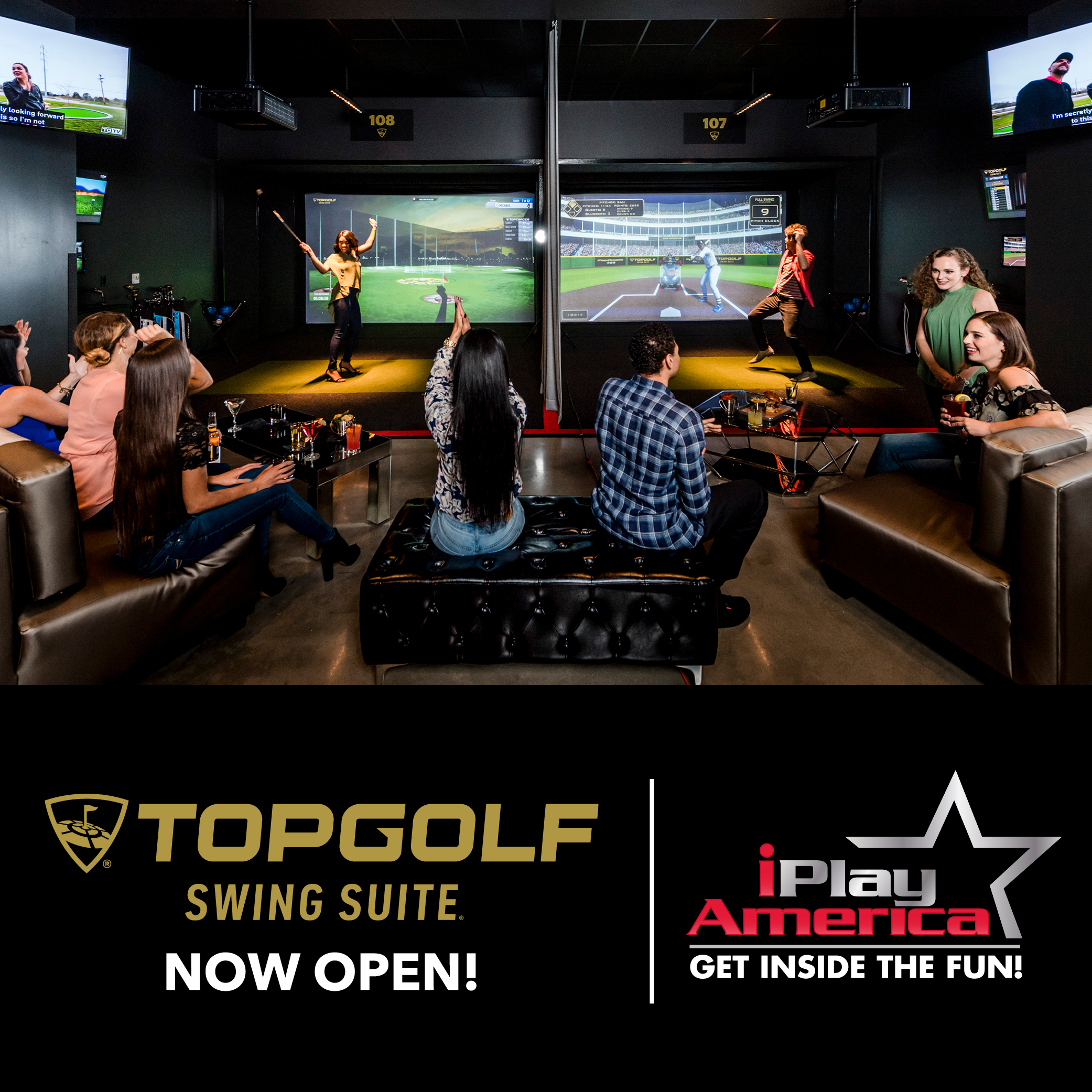 Topgolf Swing Suite Now Open at iPlay America!