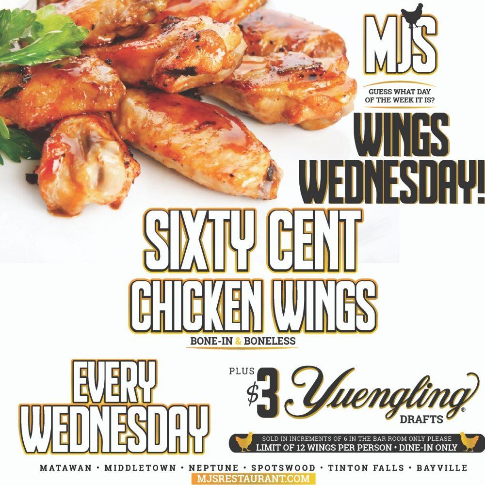 MJ's Wing Wednesdays!