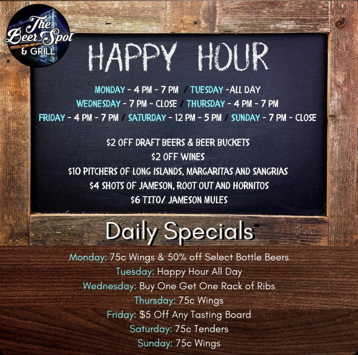 Happy Hour at The Beer Spot & Grill in Fort Lee