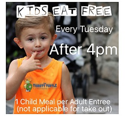 Kids Eat FREE Every Tuesday