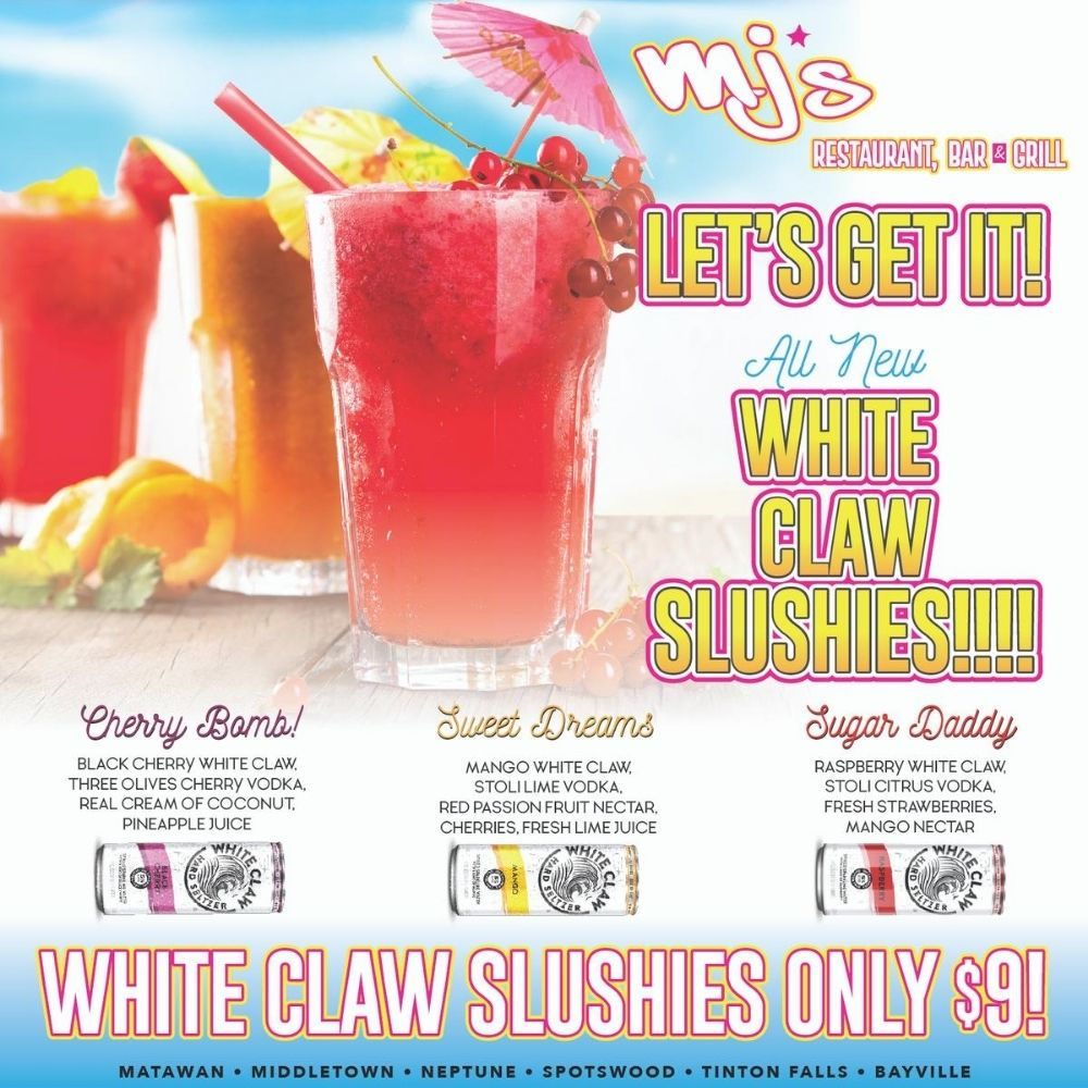 White Claw Slushies at 6 MJ's Locations!